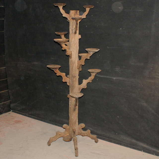 Bleached Oak Plant Stand