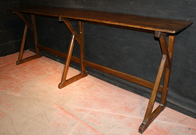 Fruitwood Narrow Serving Table ...