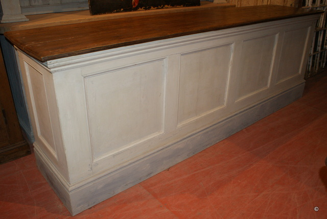 French painted Shop Counter