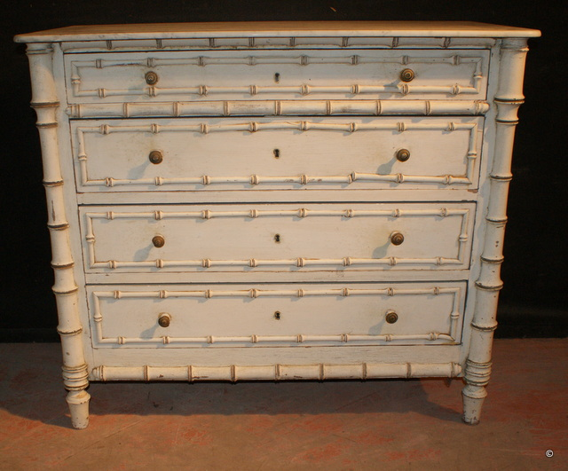 Faux Bamboo French Commode