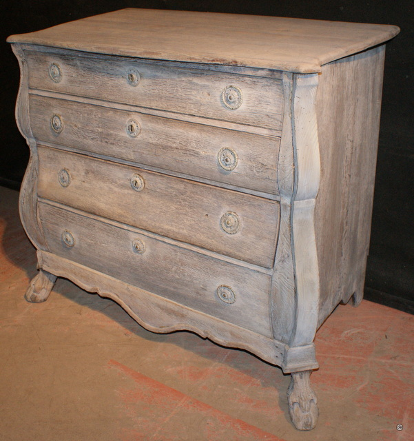 Bleached Bombe Commode