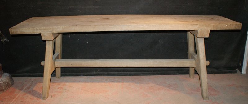 Bleached Oak Trestle Table ...