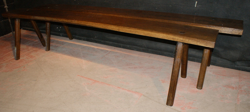 Antique Chestnut Benches
