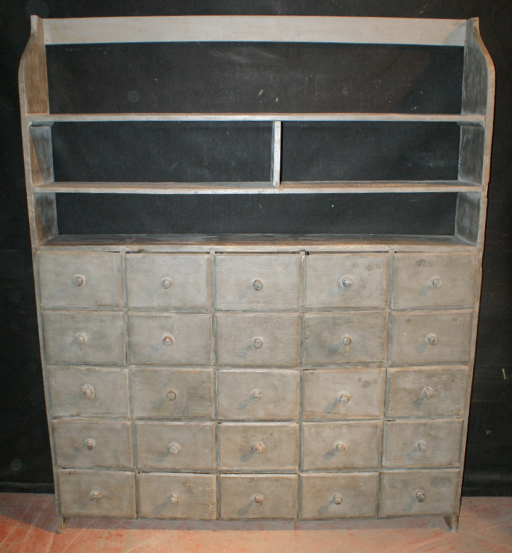 Bank of 25 Drawers