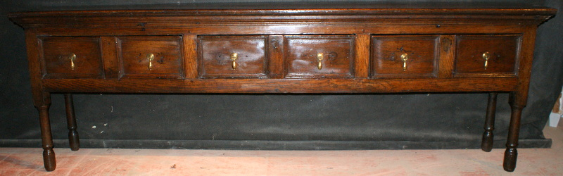 Narrow Oak Dresser Base