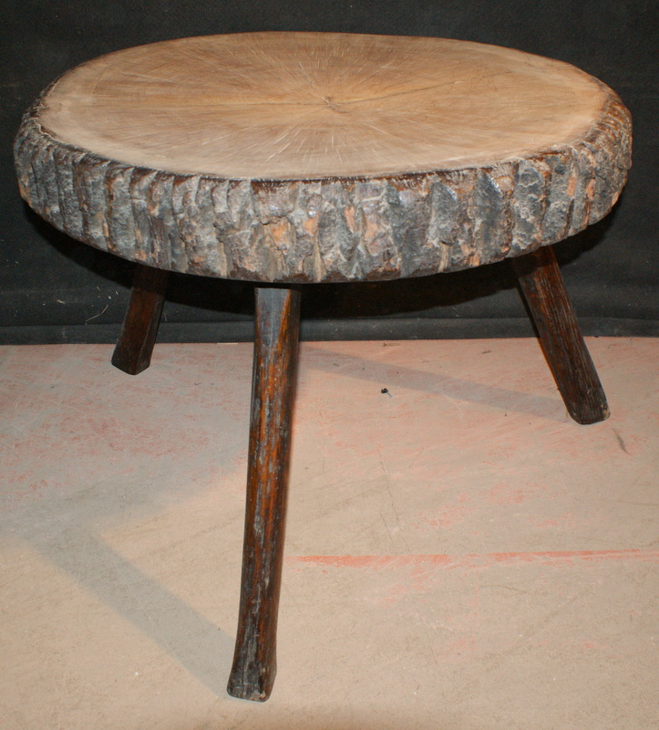 Unusual Three Legged Table Antique Bedside Tables