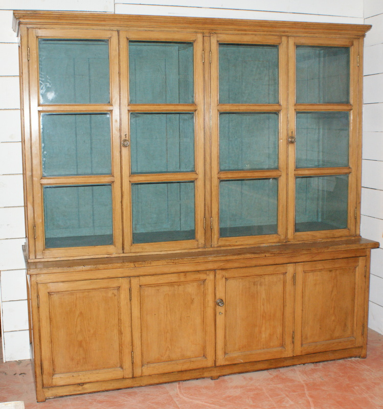 Pine Housekeepers Cupboard / Bookcase