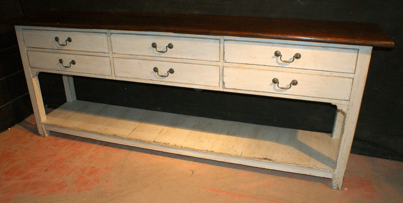 Painted Potboard Dresser Base