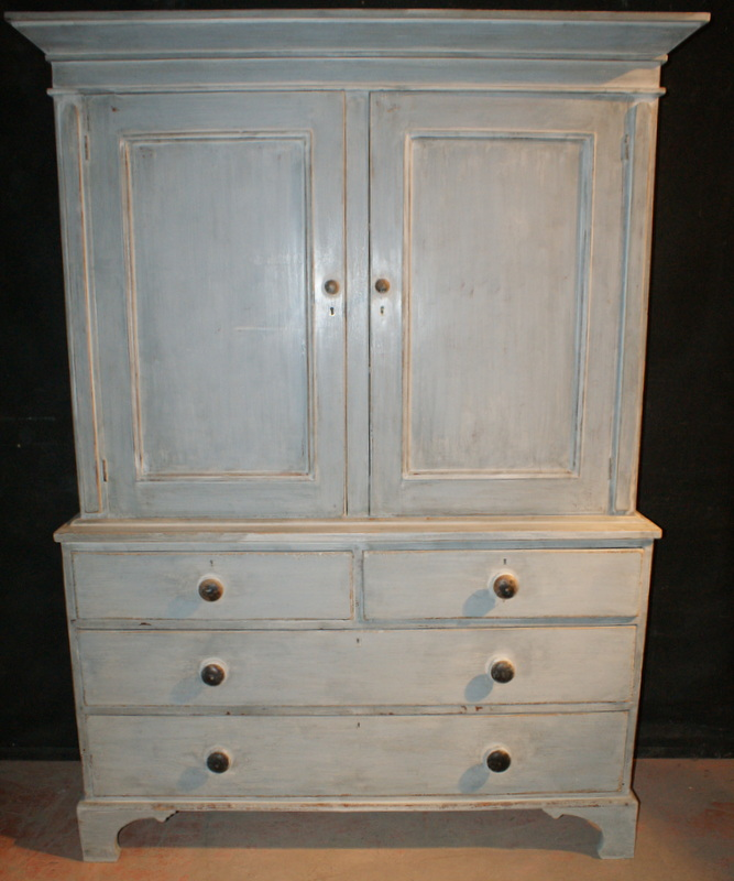 Painted Linen Cupboard Antique Cupboards