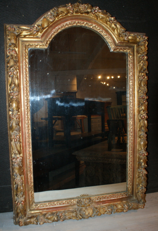Carved Italian Arched Mirror