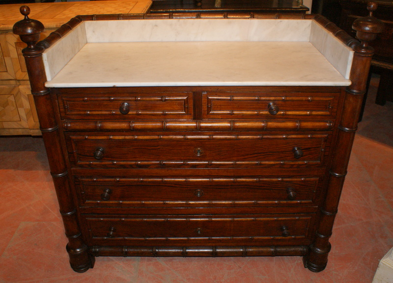French Faux Bamboo Commode