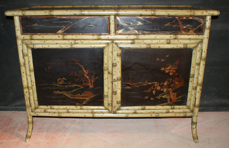Faux Bamboo Sideboard