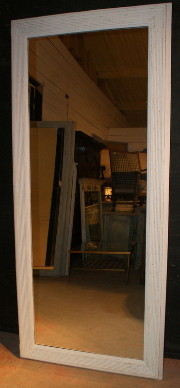 Tall Reeded Mirror