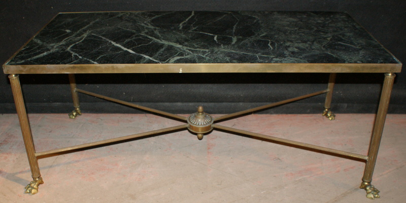 Brass and Marble Low Table