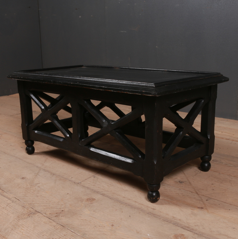 Ebonised Low Lamp Table