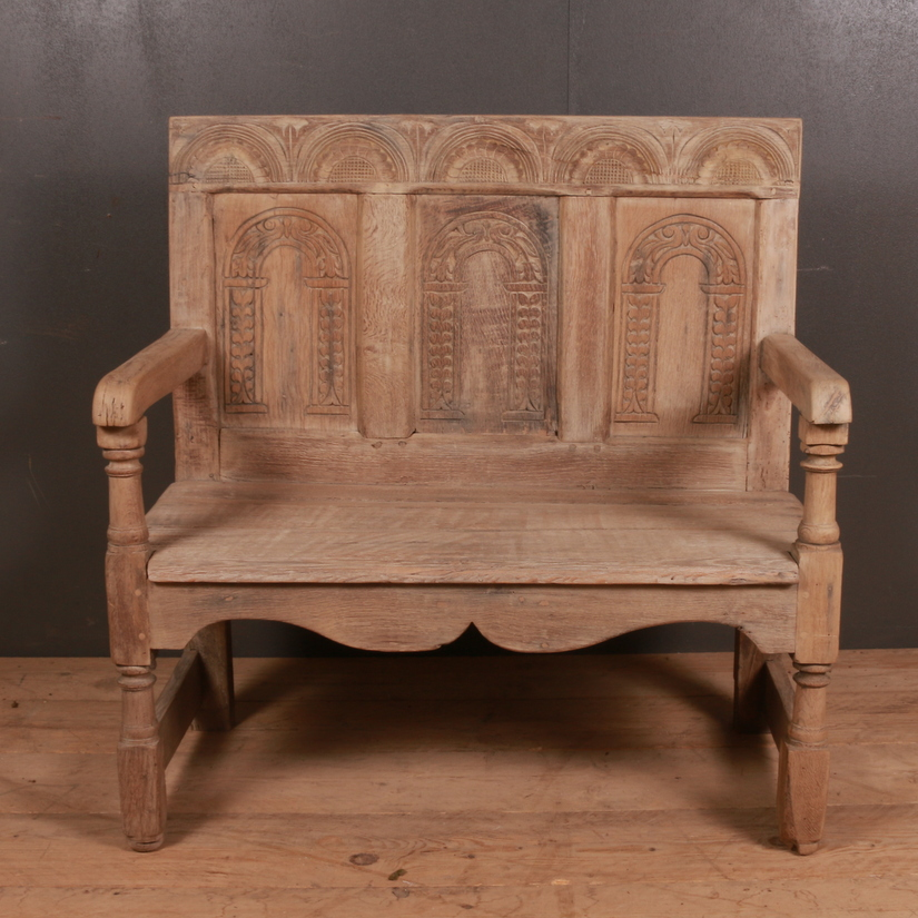 English Bleached Oak Settle