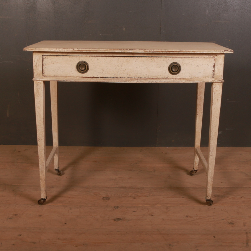 English Bowfront Side Table