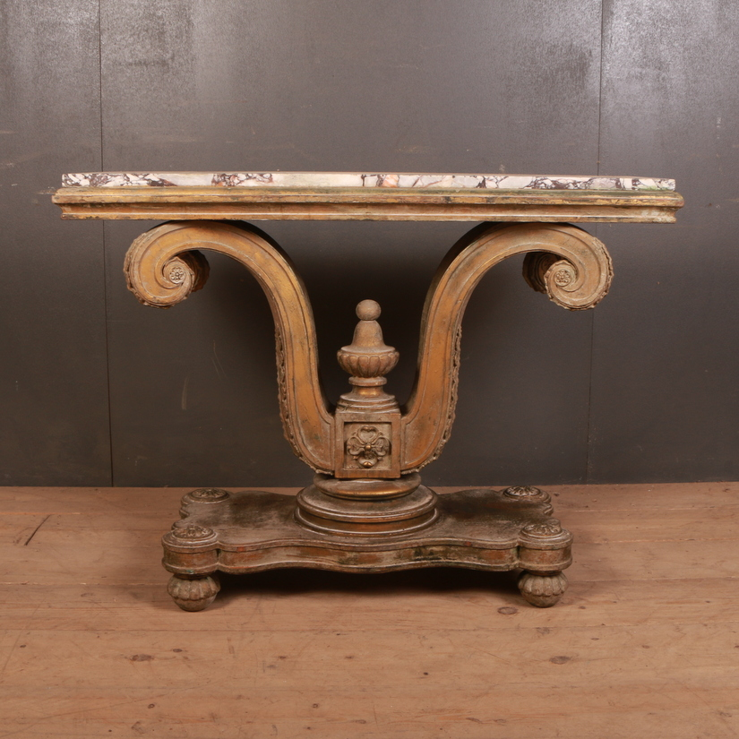 English Gilt Console Table