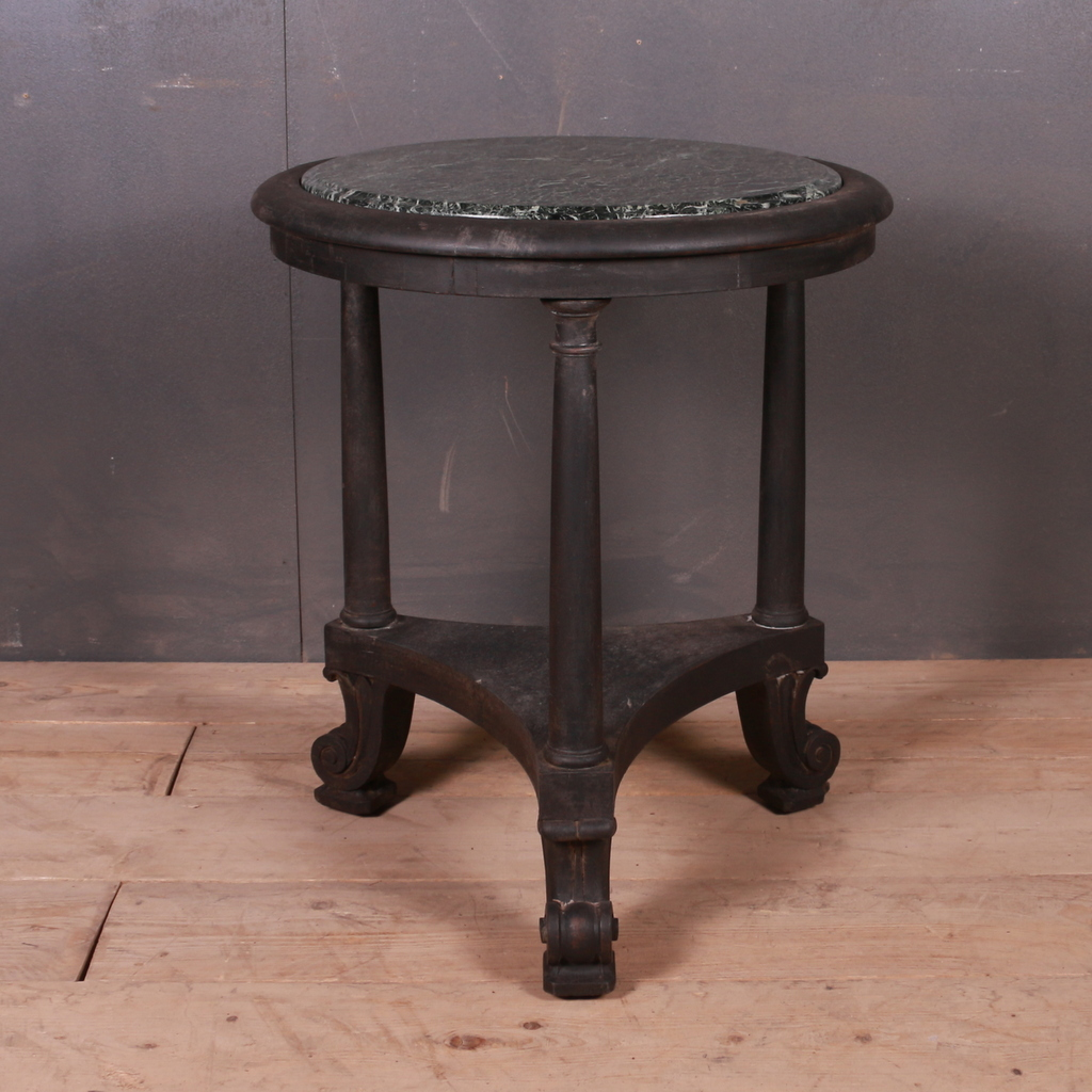 English Marble Top Lamp Table