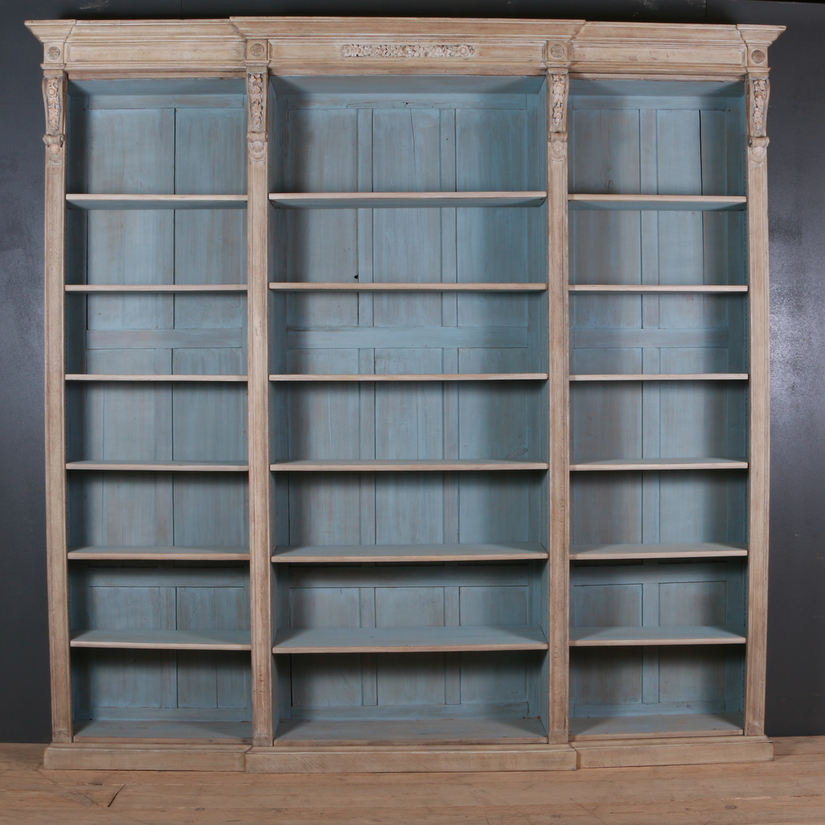 English Oak Library Bookcase