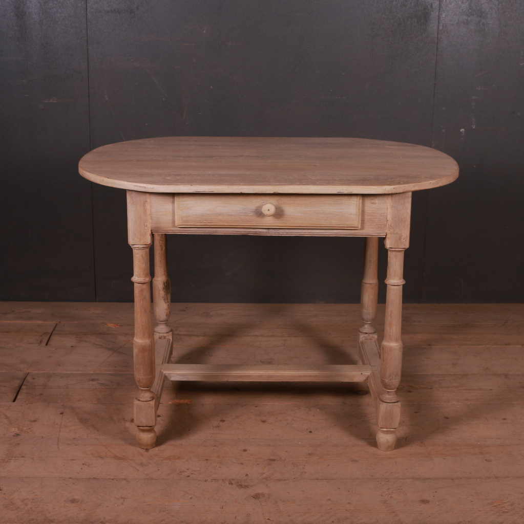 French Bleached Oak Lamp Table