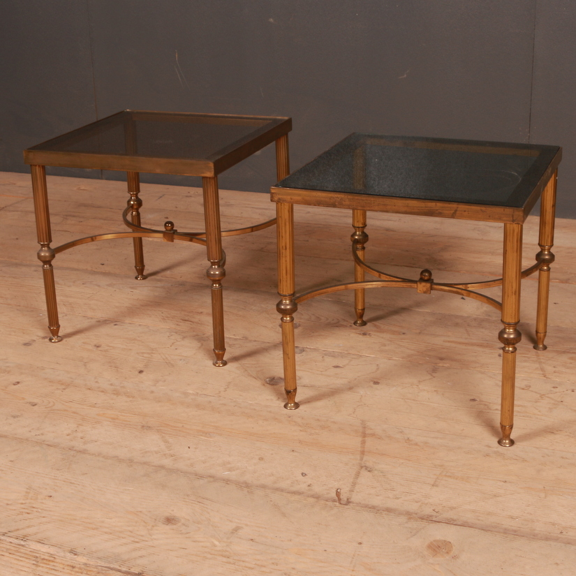 French Brass Lamp Tables