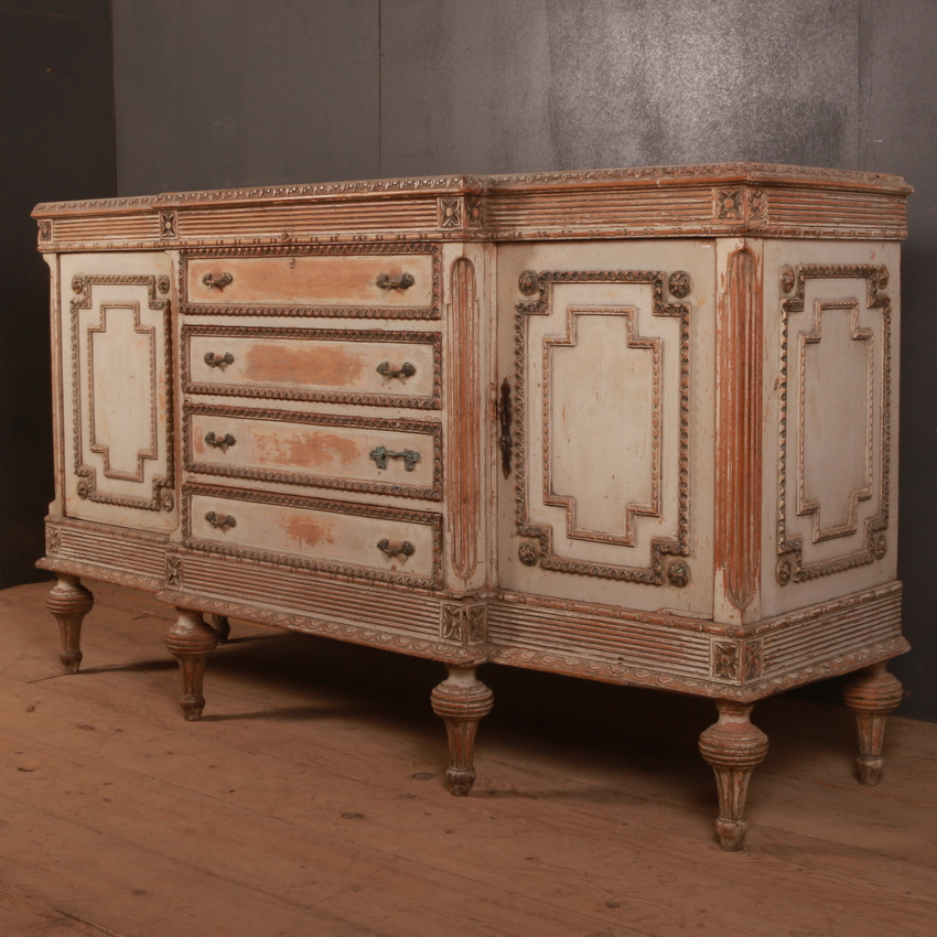 French Carved Pine Enfilade/ Sideboard