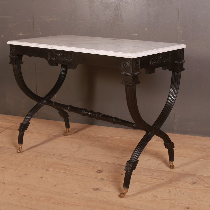 French Marble Topped Lamp Table