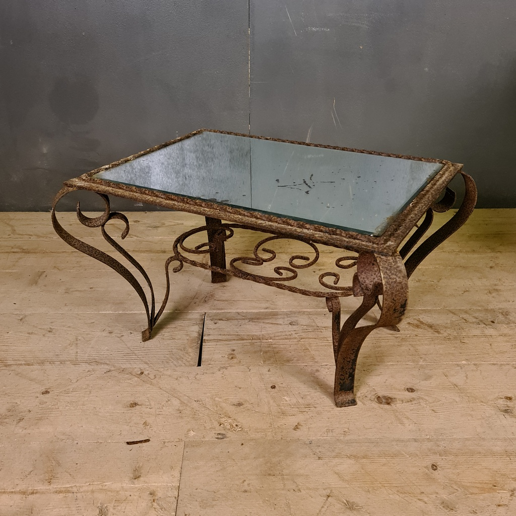 French Mirrored Low Table