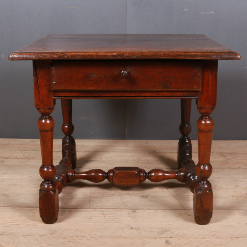 French Oak Lamp Table