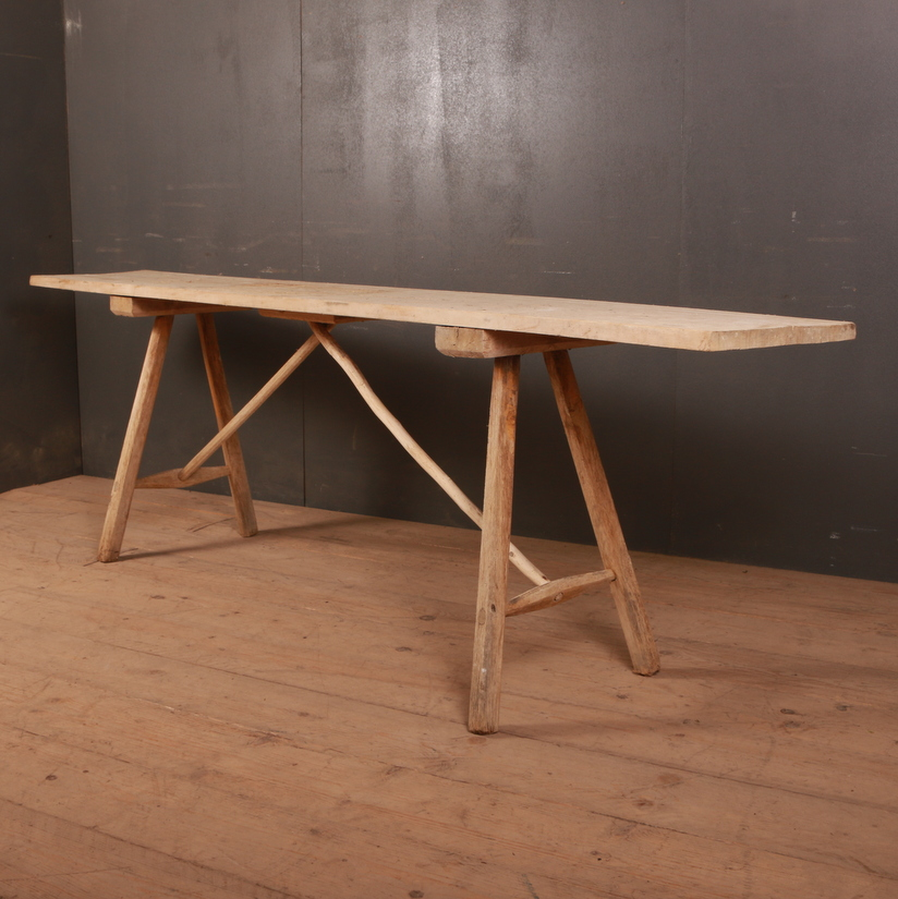 French Oak Trestle Table