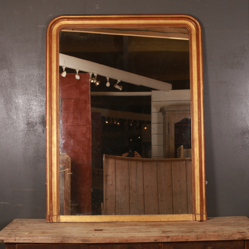 French Overmantle Mirror
