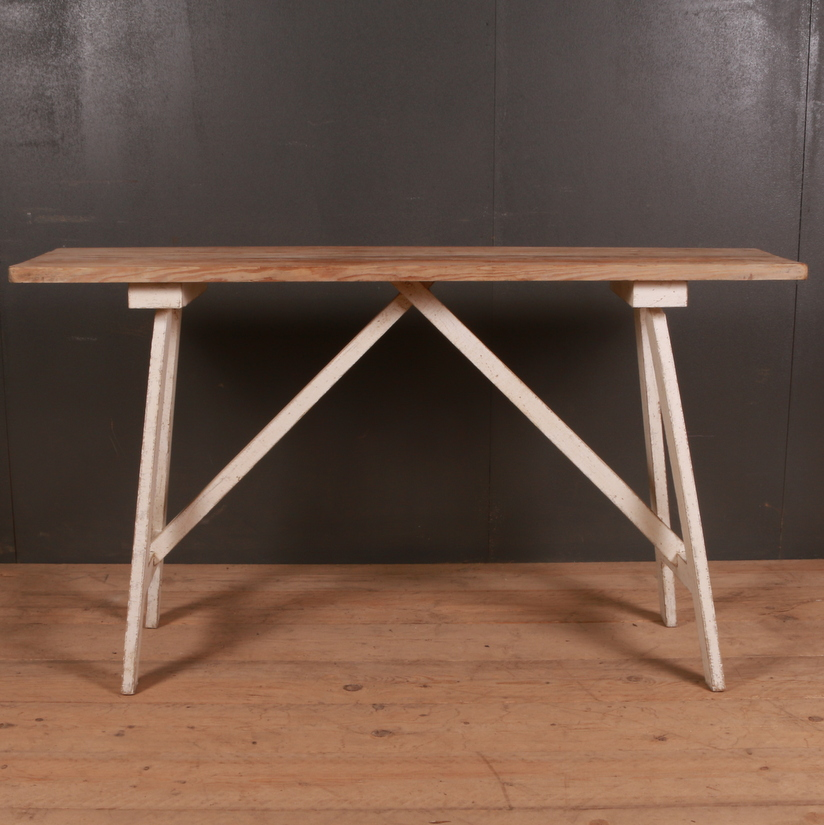 French Painted Trestle Table