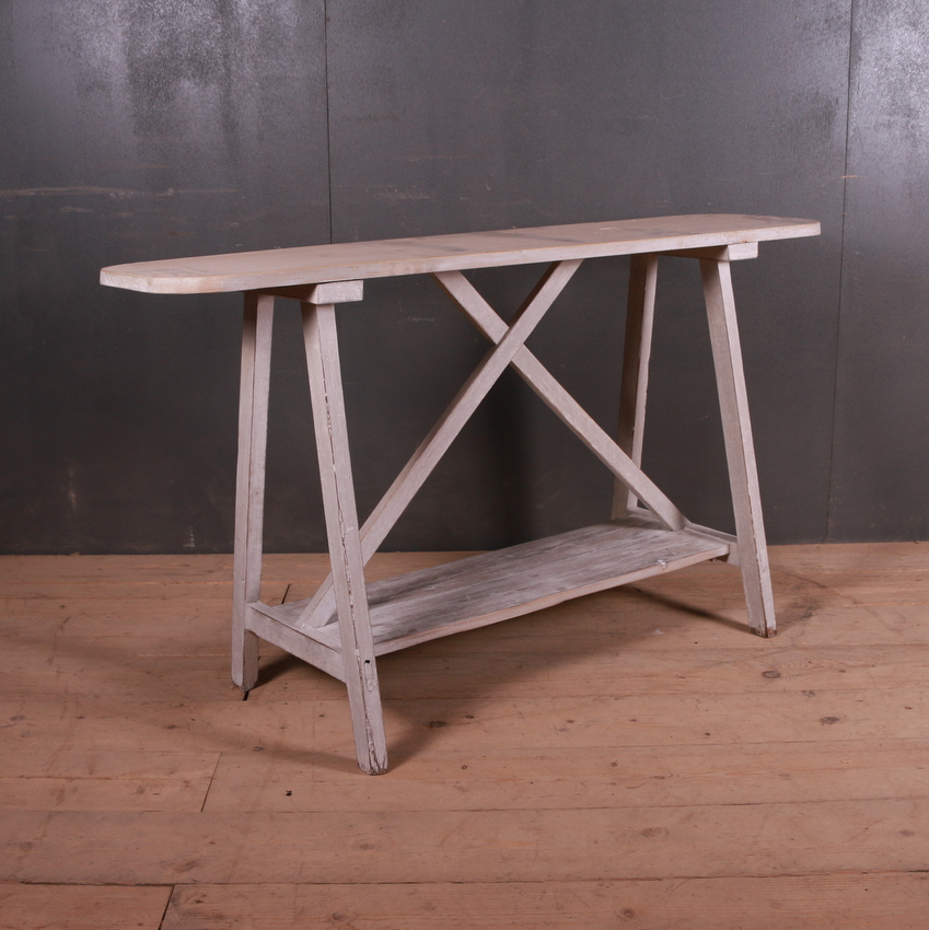 French Potboard Trestle Table