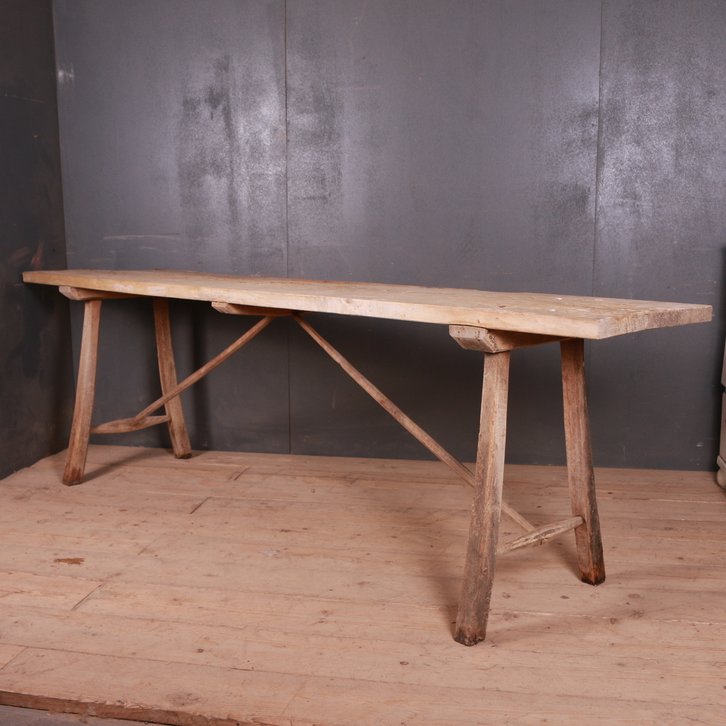 French Scrubbed Trestle Table