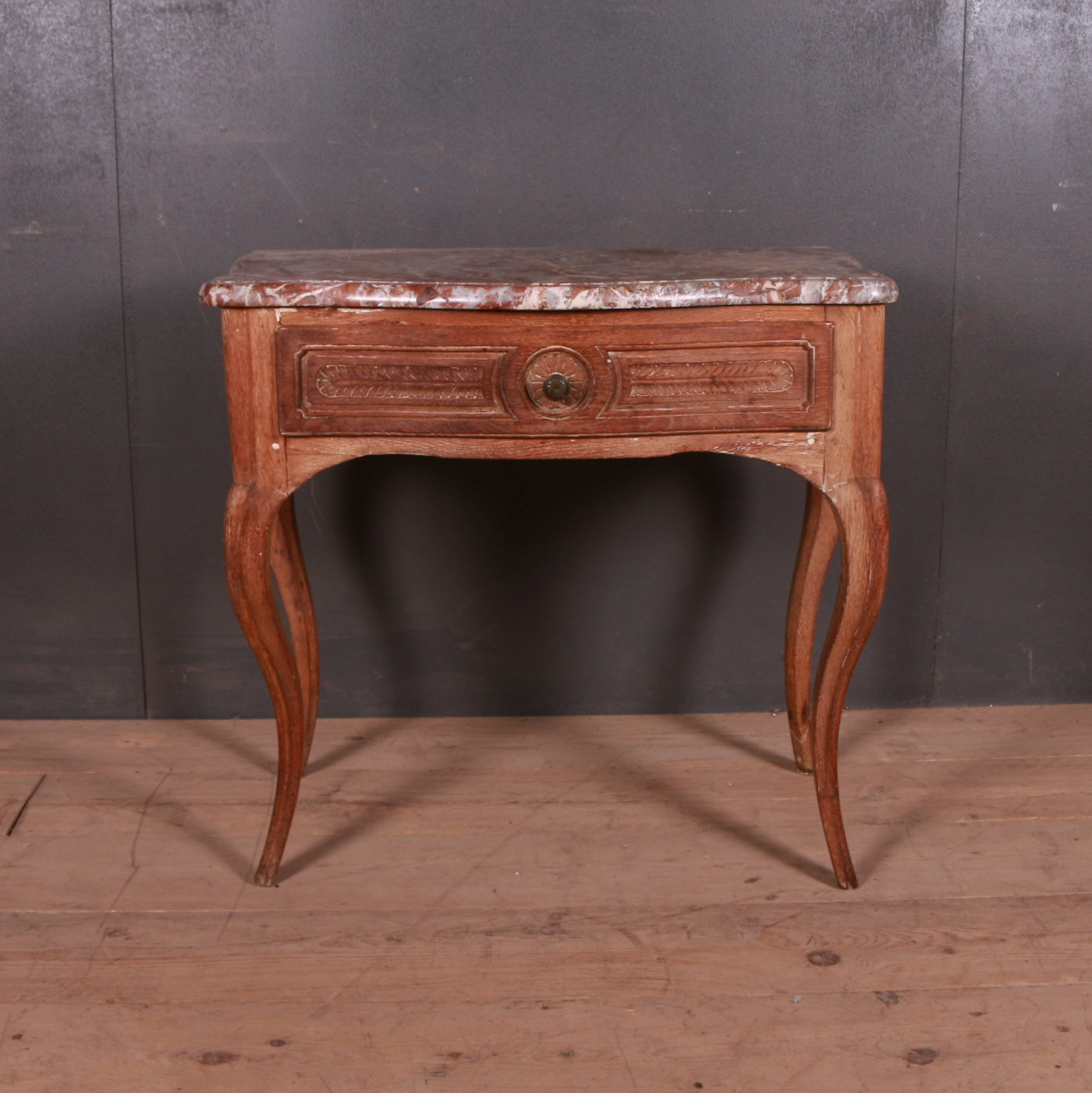 French Serpentine Front Side Table
