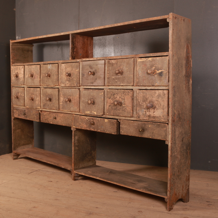 French Shop Fitting / Bank of Drawers