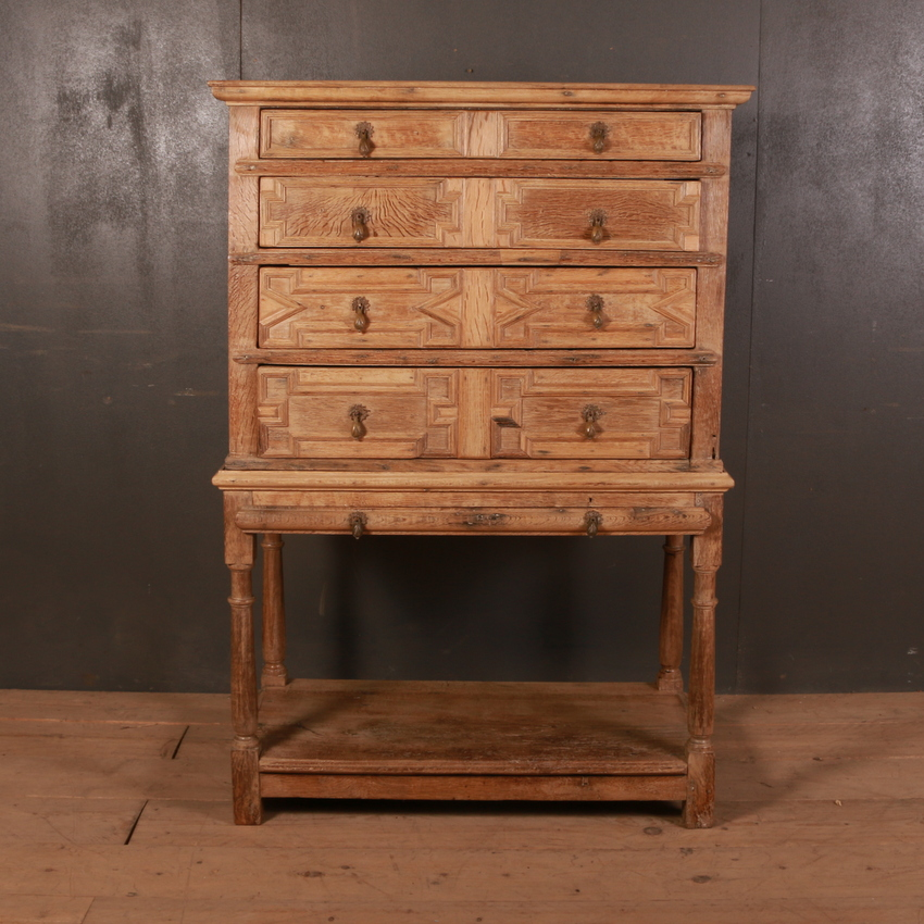 Geometric Chest of Drawers on Stand