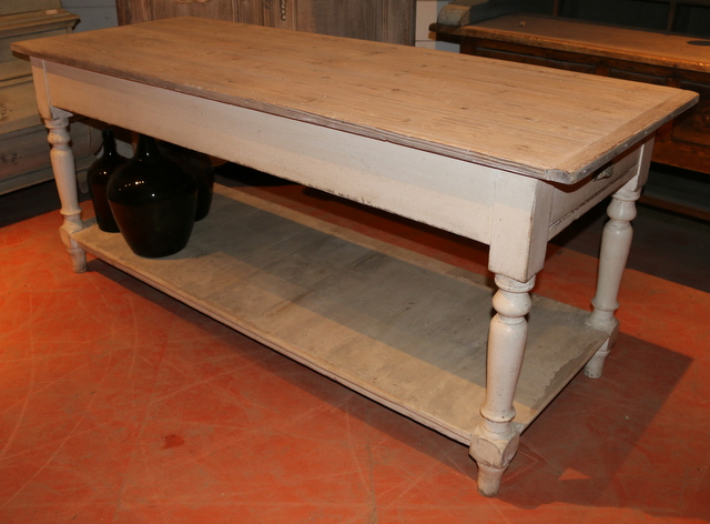 Painted Pine Drapers Table