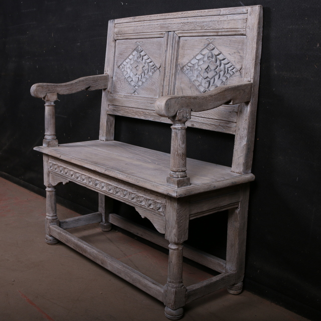 Antique Oak Settle