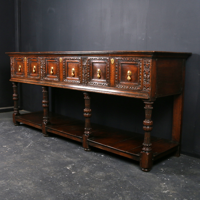 Jacobean Oak Dresser Base