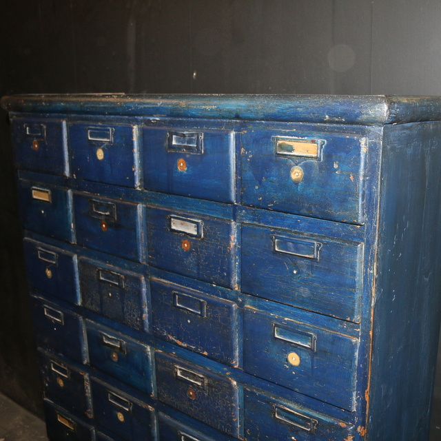 Bank of 36 Drawers