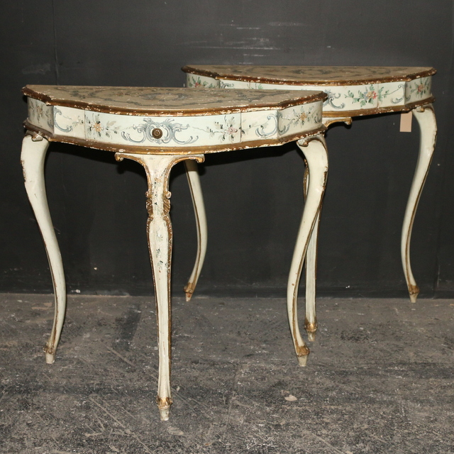 Pretty Italian Console Tables