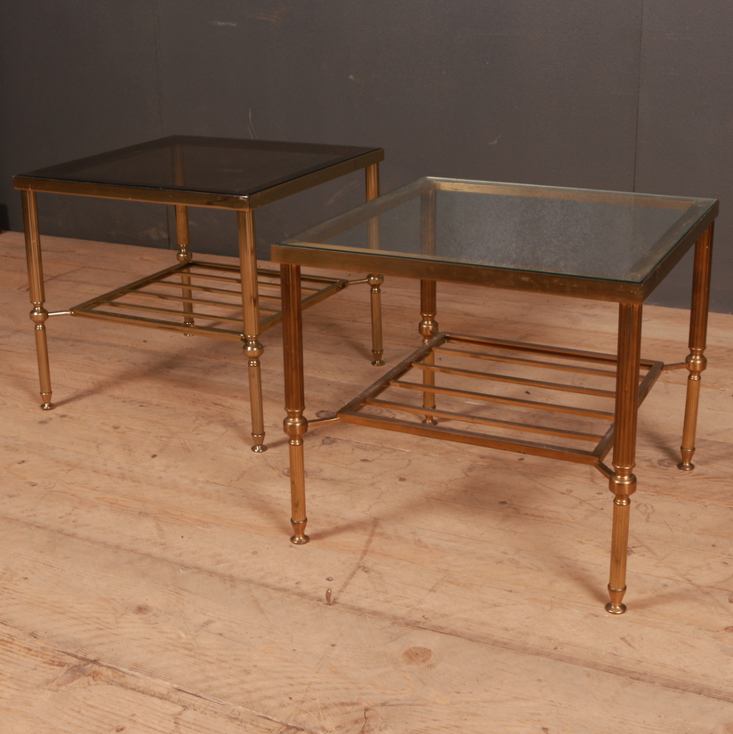 Pair of Brass Lamp Tables