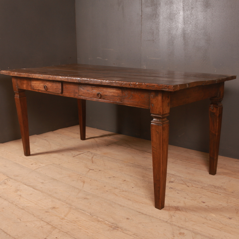 Italian Walnut Desk / Farm Table