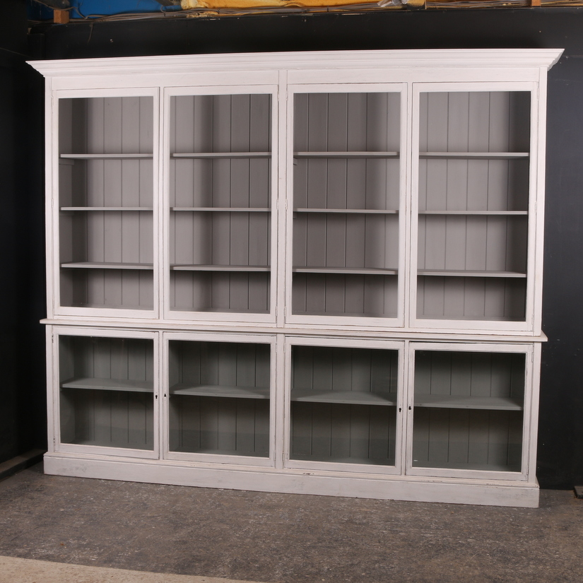Custom Built Glazed Bookcase/Display Cupboard