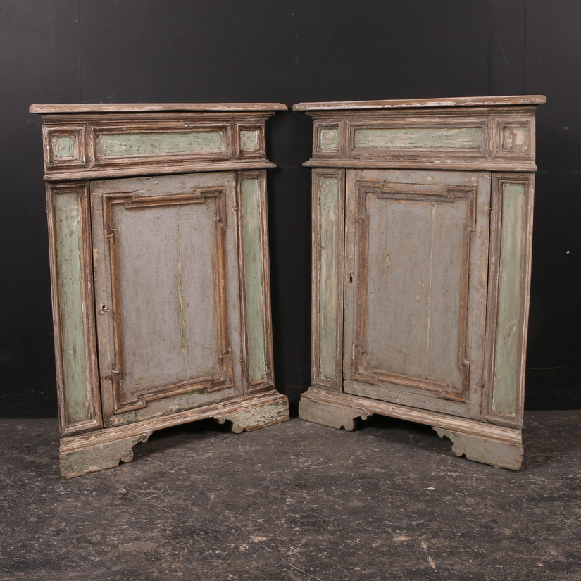 Pair of Italian Corner Cupboards