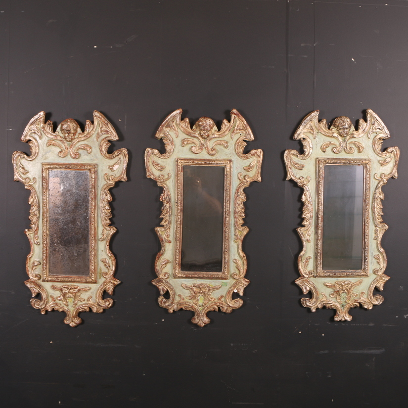 Set of 3 Danish Wall Mirrors