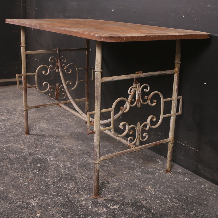 French Metal Cafe Table