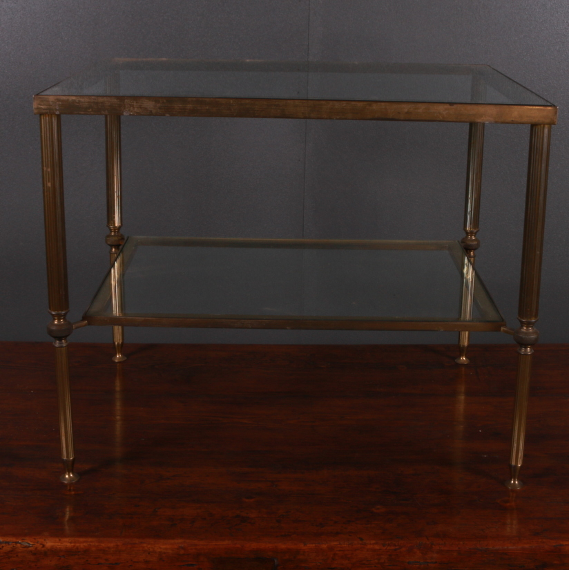 Brass and Glass Lamp Table